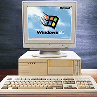 Alter PC mit Windows95-Startlogo
